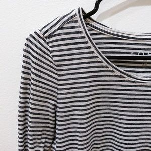 LOFT Striped Long Sleeved Shirt